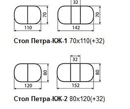 Кубика стол Петра КЖ - 2