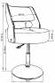 Барный стул LMZ-5368 белый - 1