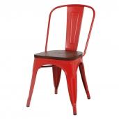 Caffe Collezione Стул Tolix Wood красный