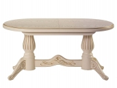 Мебелик Рифей 01 слон. кость/патина раздвижной 160(200)х90