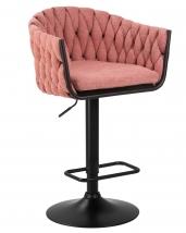 Стул барный 9690 розовая ткань
