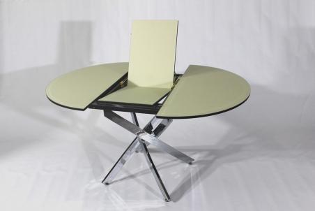Раскладной стеклянный стол-трансформер Рим