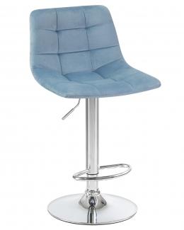 Стул барный 5017 пудрово-голубой велюр