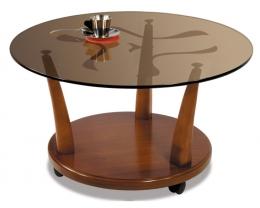 Мебелик Квартет 4М среднекоричневый/тонированное стекло