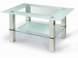 Мебелик Кристалл 2 алюминий/прозрачное стекло