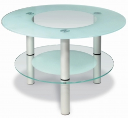 Мебелик Кристалл 3 алюминий/прозрачное стекло